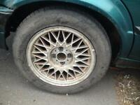 "BMW E30 15"" 325i SPORT ALLOY WHEELS TYRES x5 4x100 318I 320I"
