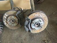 honda civic mb6 282mm front brakes calipers drilled grooved ej9 ek4 eg vti