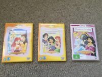 Disney Princess Stories DVDs complete collection Volumes 1,2 and 3