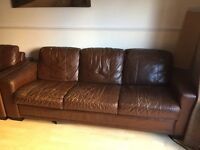 2 X 4 Seater sofas in dark Brown