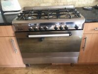 BAUMATIC 5 Burners GAS RANGE COOKER - STAINLESS STEEL - freestanding - 90cm wide - good condition