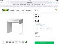 BRAND-NEW IKEA MICKE DESK IN WHITE