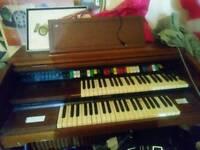 Old electric organ. free
