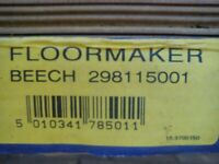 pack laminate flooring beech effect about 2m in pack for sale  Soham, Cambridgeshire