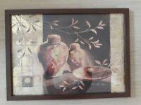 Claudia Aucilotti Framed Print with Dark Brown Frame