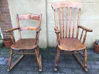 Pair of antique rocking chairs