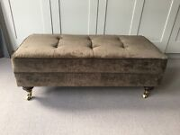 Chocolate Brown Footstool