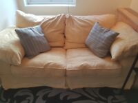 Pale yellow sofa bed good condition