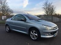 2004 PEUGEOT 206 CC CONVERTIBLE WITH JUST 58K GENUINE MILES!!!