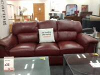3 piece leather suite at BHF Glasgow