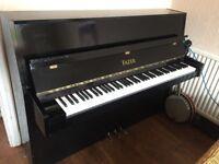Rushworth Upright Piano In High Gloss Black