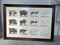 Pablo Picasso The bull framed