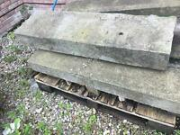Two stone reclaimed steps