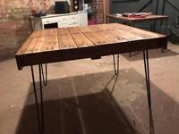 Planked pallet dining table
