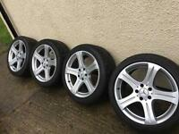 Genuine Mercedes 18' 5x112 wheels with good tyres