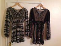 Tunic dresses - size 14. Very good condition. £6 each or buy both for £10.