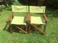 WOODEN GARDEN CHAIRS FROM MARKS & SPENCER