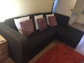 habitat three seater sofa in good overall condition. Some marks on the fabric.