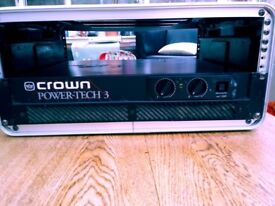 Crown power amp and Yamaha speakers