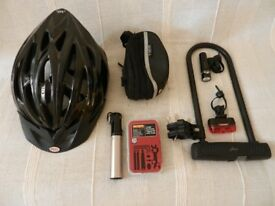 Bike helmet brand new/lock and other accessories