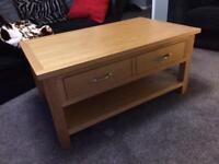 Light oak solid coffee table in excellent condition