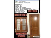 Hardwood pre finished doors range of sizes