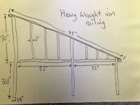 """Wrought Iron Railing - 75"""" Long"""