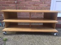 TV Stand with shelves (Solid Wood)