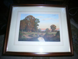 Vincent selby ( sunday afternoon ) print. ltd edition signed by artist.