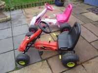 Two kids pedal go karts for sale
