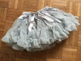 Party skirt, grey/silver, Mini Boden, age 3-4