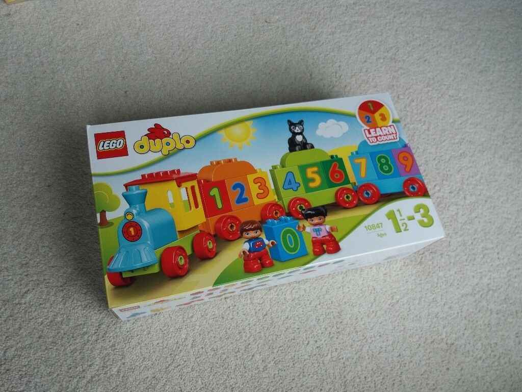 Lego Duplo Number Train In Original Box With Instruction In