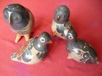 Tonala Mexican Pottery Birds
