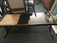 Beautiful Vintage Retro Glass and Tile Teak G Plan Coffee Table