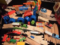 thomas the tank engine wooden track and engines huge lot