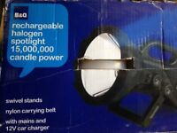 15,000,000 Candle Power Rechargeable Spotlight/Work Light