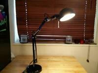 Ikea FORSA desk lamp - black