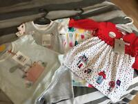 Assorted baby girl clothes 0-3 months