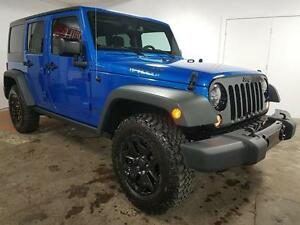2016 Jeep Wrangler Unlimited WILLYS Manuel 2 TOITS A/C