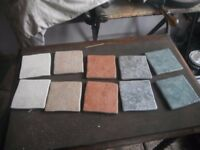 "WALL TILES 4 X 4"" DIFFERENT COLOURS UNUSED 150 TILES"