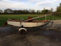 Mirror dinghy & road trailer
