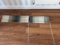 2 x matching roman blinds