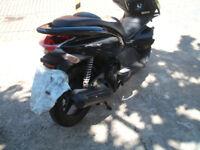 honda 125 pcx 2012 reg scooter 4 stroke runner ,low miles/spares or repair,plastic damage