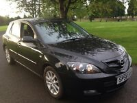 "1 YEAR MOT""2008 58 MAZDA 3 BLACK 5 DOOR 1 OWNER FSH 2 KEYS"