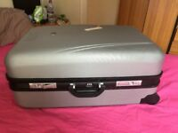 Original BEVERLEY HILLS POLO CLUB Designer silver pull along wheeled suitcase