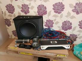 Subwoofer, Amplifier, Capacitor, Car Speakers, Tweeters, 2Way Crossover Networks & Cables - Sub Amp