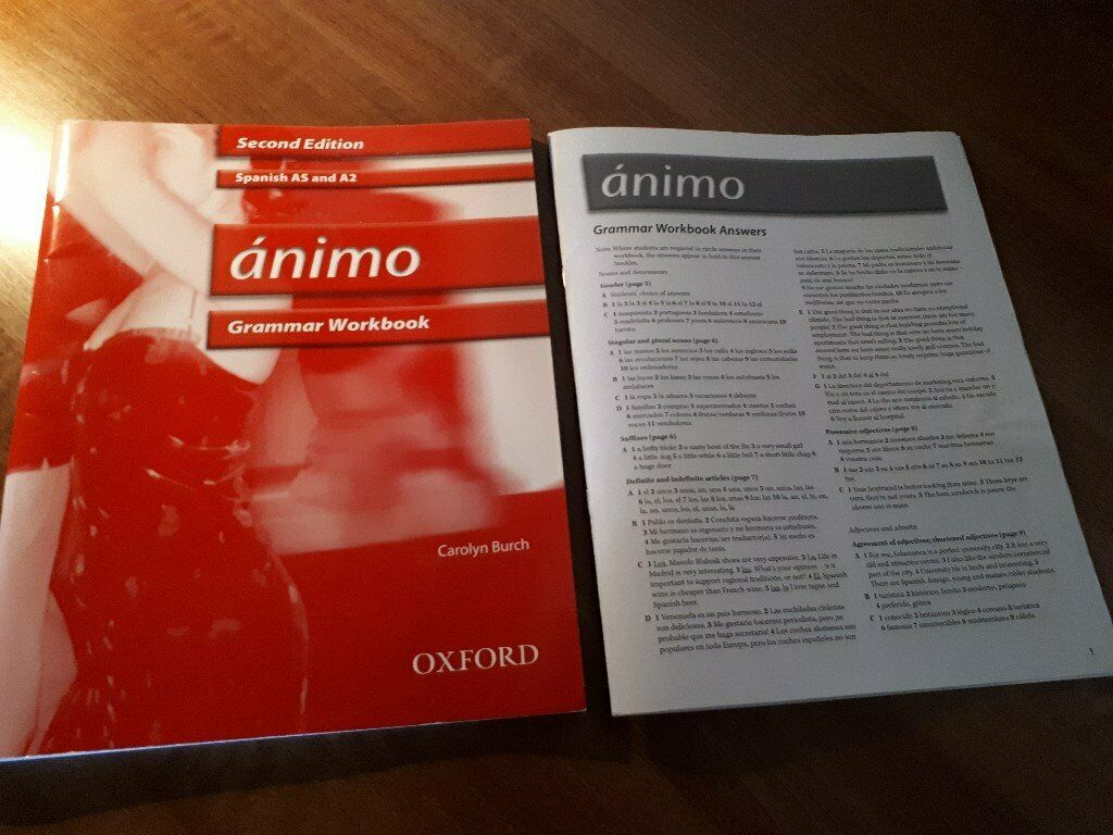 Ánimo - Spanish Grammar Workbook with answers and CD (AS/A2 level) | in  Worsley, Manchester | Gumtree