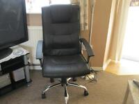 Black office chair mark on back and seat hence the price