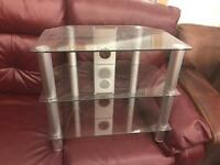 Small glass tv stand £15