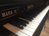 Rhodes Stage 73 Mk11 electro-mechanical piano with other original items in excellent condition